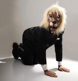 Portrait of monster boss businessman Stock Photo
