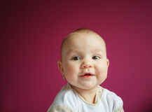 Portrait of a 9 month baby girl Royalty Free Stock Photography