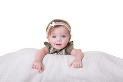 Portrait of a 6 month old baby girl Royalty Free Stock Photography