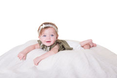 Portrait of a 6 month old baby girl Stock Photography