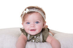 Portrait of a 6 month old baby girl Stock Images