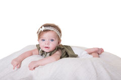 Portrait of a 6 month old baby girl Royalty Free Stock Photo