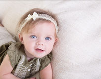 Portrait of a 6 month old baby girl Royalty Free Stock Photos