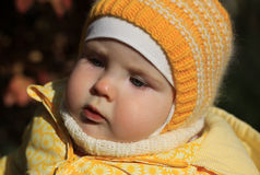 Portrait of a 10-months baby Royalty Free Stock Photo