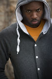 Portrait of Moody Young Black Man Stock Photography