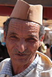 Portrait of a Moroccan Old Man Royalty Free Stock Images