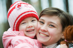 Portrait of moter and daughter Royalty Free Stock Images