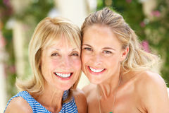 Portrait Of Mother And Adult Daughter Stock Images