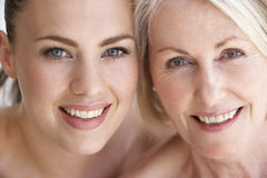 Portrait Of Mother With Adult Daughter Stock Photo