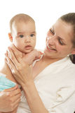 Portrait mother and baby Stock Image