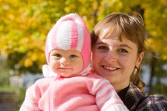 Portrait of mother with  baby Stock Images