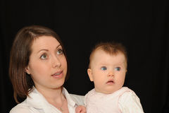 Portrait of mother and baby Royalty Free Stock Photo