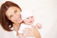 Portrait of mother with baby Stock Photography
