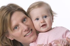 Portrait Of Mother And Baby Daugther Royalty Free Stock Photos