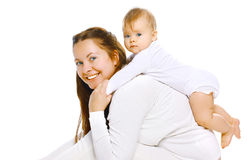 Portrait mother and baby Stock Photography