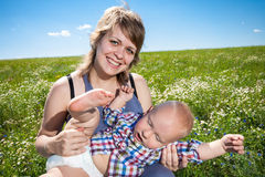 Portrait of mother and baby Stock Photography