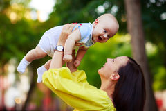 Portrait of a mother and baby Royalty Free Stock Images