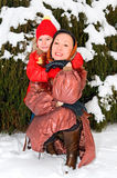 Portrait of mother with child stock photo