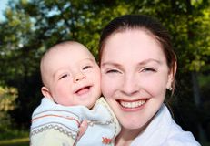 Portrait of mother and child Royalty Free Stock Photo