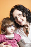 Portrait of mother and daughter Stock Photos