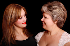 Portrait of mother with daughter Stock Photos