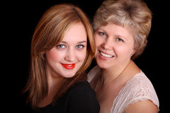 Portrait of mother with daughter Stock Photo