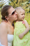 Portrait of mother and daughter. Royalty Free Stock Photography