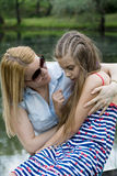 Portrait of mother and daughter Stock Photography