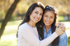 Portrait Of Mother And Daughter In Countryside Royalty Free Stock Image