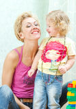 Portrait of mother and daughter Royalty Free Stock Images