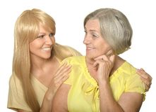 Portrait of a mother and daughter Royalty Free Stock Image