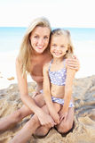 Portrait Of Mother And Daughter On Holiday Royalty Free Stock Photography