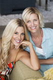 Portrait of mother and daughter at home Stock Image