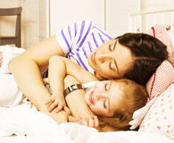 Portrait of mother and daughter at home Royalty Free Stock Photography