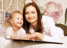 Portrait of mother and daughter at home Royalty Free Stock Image