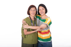Portrait of mother and daughter Royalty Free Stock Image