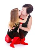 Portrait of a mother and daughter Stock Images