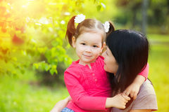 Portrait of mother and daughter Royalty Free Stock Photography