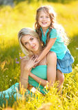 Portrait of mother and daughter Royalty Free Stock Photos