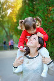 Portrait mother and daughter royalty free stock photo