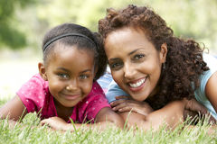 Portrait Of Mother And Daughter In Park. Smiling Royalty Free Stock Images