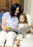 Portrait of mother and daughter staying at home Stock Photography