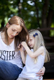 Portrait of a mother and daughter Royalty Free Stock Images