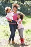 Portrait Of Mother With Daughters In Countryside Royalty Free Stock Photo
