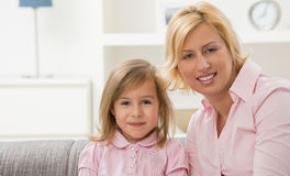 Portrait of mother and daugther Stock Photography