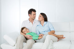 Portrait of mother, father and their son Stock Photography