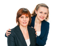 Portrait of Mother and her adult Daughter Stock Photos