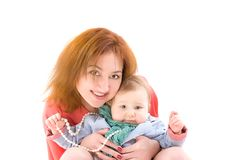 Portrait of mother and her baby Royalty Free Stock Image