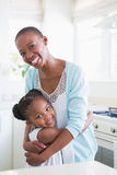 Portrait of a mother with her daughter Stock Photos