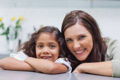 Portrait of a mother with her daughter Stock Photo